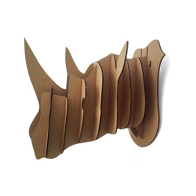 3d Puzzle Rhinoceros Head Wall Mount Cardboard Animal Head Wall
