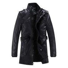 Günstige-kleidung-china blusas de inverno masculino jaqueta winter herren reiter jacke schwarz leder mäntel lange pu kleidung marke B074