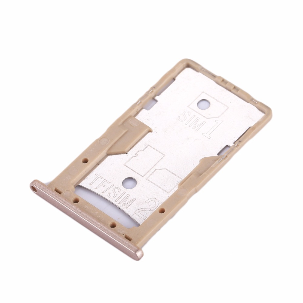 New SIM Card Tray Socket Slot Holder Adapters Replacement Spare Parts For Xiaomi Redmi 4A / 4X SIM & SIM / TF Card Tray Adapters