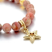 Star Charm natural Stone Beads Bracelet