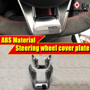 W463 G65 Look Steering wheel low cover trim ABS Silvery For Mercedes Benz G class G500 G550 G63 1:1 Replacement B style 2013-in