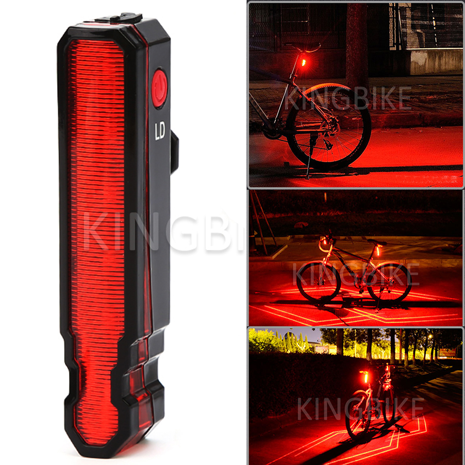 Portable 5 LED USB MTB Road Bike Tail Light Rechargeable Safety Warning Bicycle Rear LD Light Lamp Laser Pen Cycling Bike light wireless 2 4ghz led light traffic warning sign bicycle backpack rucksack rechargeable usb cable cycling backpacks bike bag