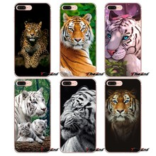Amazing 3D Black Tiger Blue Eyes Soft Case For iPhone X 4 4S 5 5S 5C SE 6 6S 7 8 Plus Samsung Galaxy J1 J3 J5 J7 A3 A5 2016 2017(China)
