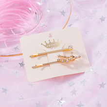 Constellations Women Lady Geometry Triangle Beautiful Hairpin Fashion High Quality Crystal For Girls