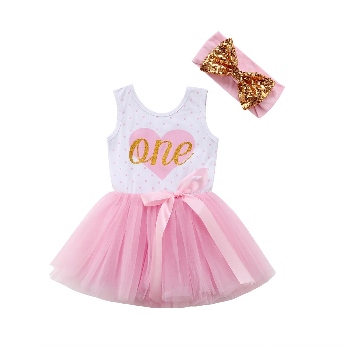 Princess Newborn Infant Baby Girls Sleeveless Tulle Dresses First Birthday Party Wedding Dress For Girls Baby Girls Clothing