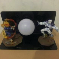 5 Dragon Ball Z Super saiyan Vegeta And Frieza With LED Light Table lamp PVC Action Figure Collectible Model Toy D424