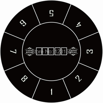 WP-038 Texas Holdem Layout, Water Resistant  Diameter 120cm,  1PC Free shipping