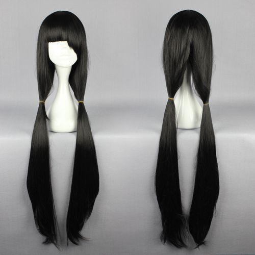 Top Quality Fashion KDATE A LIVE-Tokisaki Kurumi 100cm Cosplay Long Black Cosplay Wig