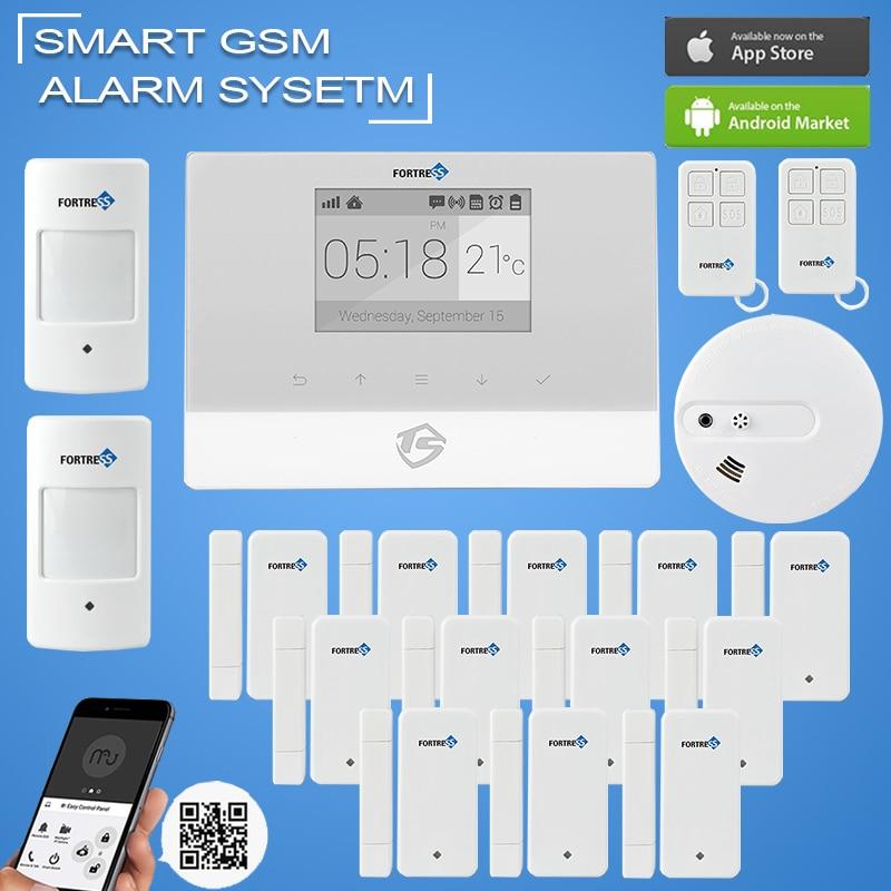 Smart home security burglar alarm gsm alarm system support for Smart home alarm system