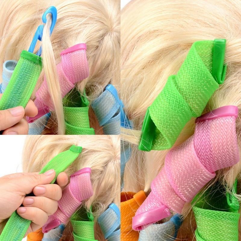 18st hårrullar Styling Curler Tools DIY Natural Way Snabbt och - Hushållsvaror - Foto 3