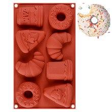 8 отверстий 3D пищевая форма силиконовая форма для ручной работы форма для мыла шоколадная помадка для бисквита форма для пудинга для фестиваля украшение для праздников