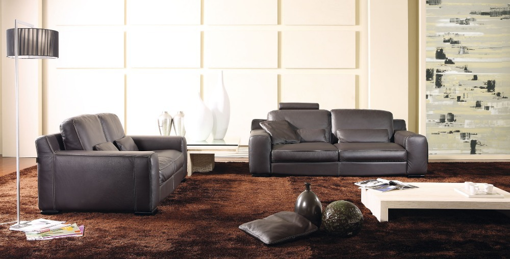 living Room Leather Sofas 8246 High quality leather sofa modern sofa living  room sofa living room furniture home - Modern Leather Sofa Promotion-Shop For Promotional Modern Leather
