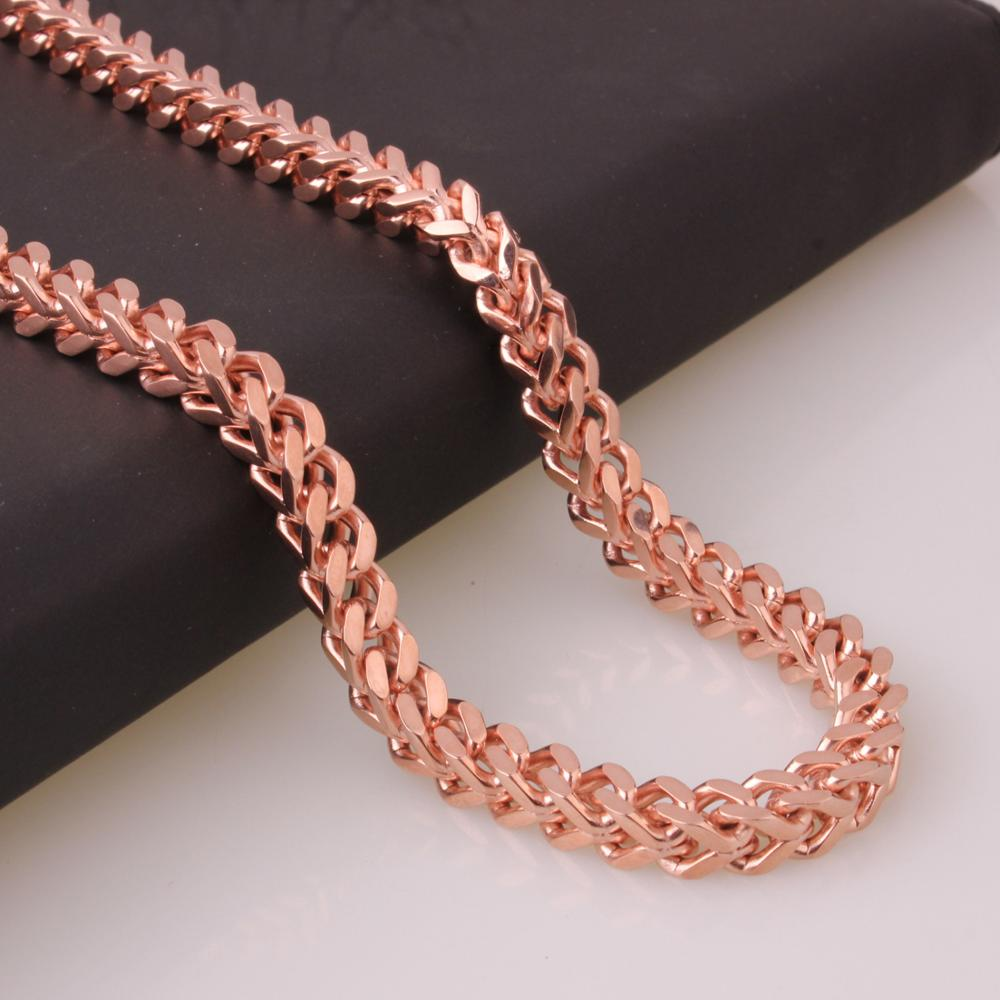 Mens Fish Scales Chain Necklace 24 quot Stainless Steel Silver Gold Black Rose Gold Tone Vintage Foxtail Box Chain Punk Necklaces in Chain Necklaces from Jewelry amp Accessories