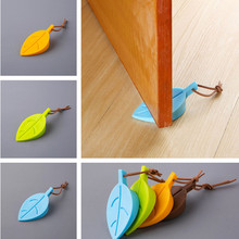 Maple Autumn Leaf Style Home Decor Finger Safety Door Stop Stopper Doorstop For Baby Home Decoration