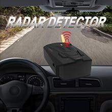Detector de velocidad de Radar para coche V7 inglés ruso 16 bandas de detección de Radar para coche alerta de voz Detector de Control de velocidad de advertencia
