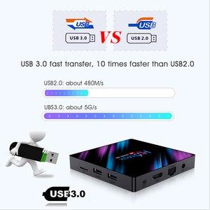 Image 2 - أندرويد 10 الذكية التلفزيون فك التشفير صندوق 4K 4096x2160 HDR Bluetooth4.0 USB 3.0 HDMI 2.0a ل 4k @ 60Hz DDR3 دعم ثلاثية الأبعاد الفيديو 2.4G/5G H96
