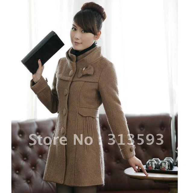 2013 autumn and winter female slim woolen overcoat thickening woolen outerwear female overcoat