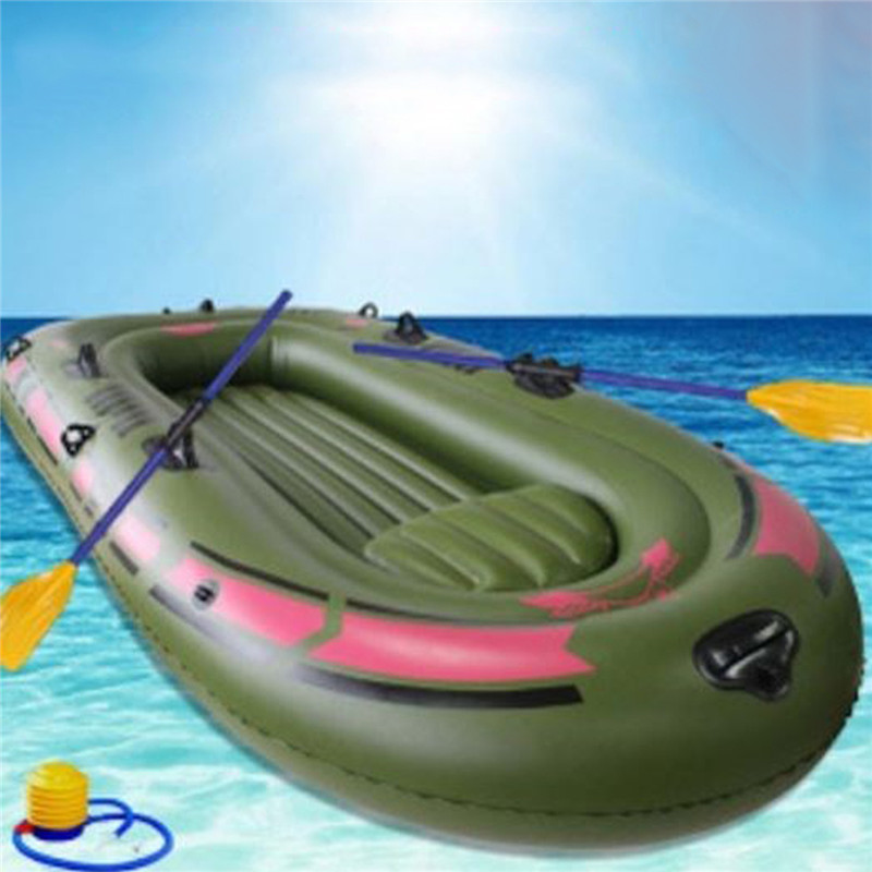 1 Set 3 Person Portable Inflatable Rubber Boat High Strength PVC Fishing Boat 240x137cm with Paddles Pump Patching Kit цены онлайн