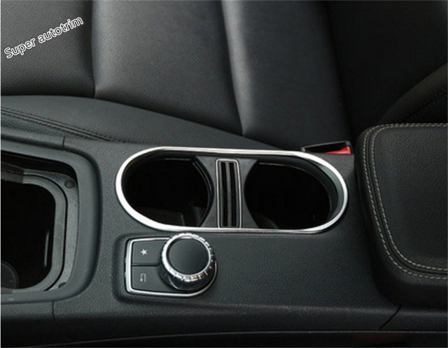Lapetus Accessories Interior Central Control Water Cup Holder Frame Cover TrimFor Mercedes-Benz GLA 200 220 X156 2015 2016 2017