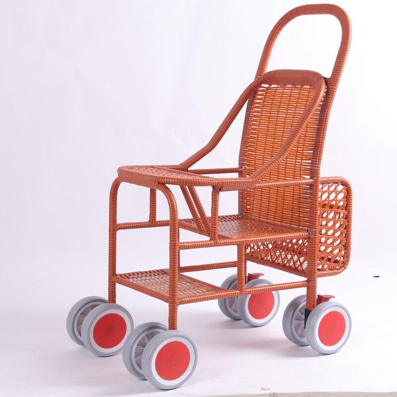 Baby stroller rattan folding bamboochildrens bamboo stroller light summer bamboo sitBaby stroller rattan folding bamboochildrens bamboo stroller light summer bamboo sit