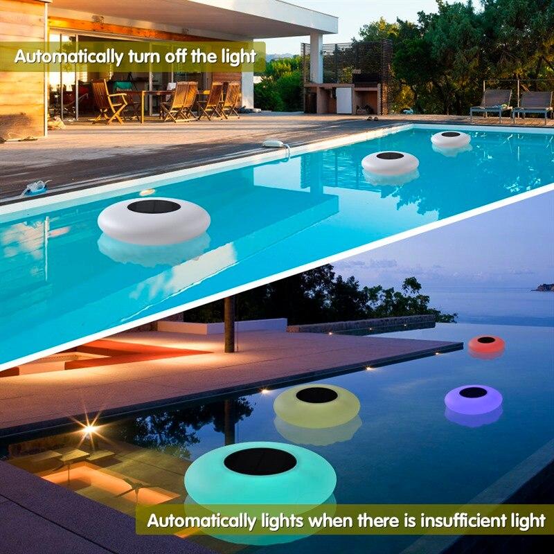 Piscina Flutuante Solar LED Luzes de Jardim