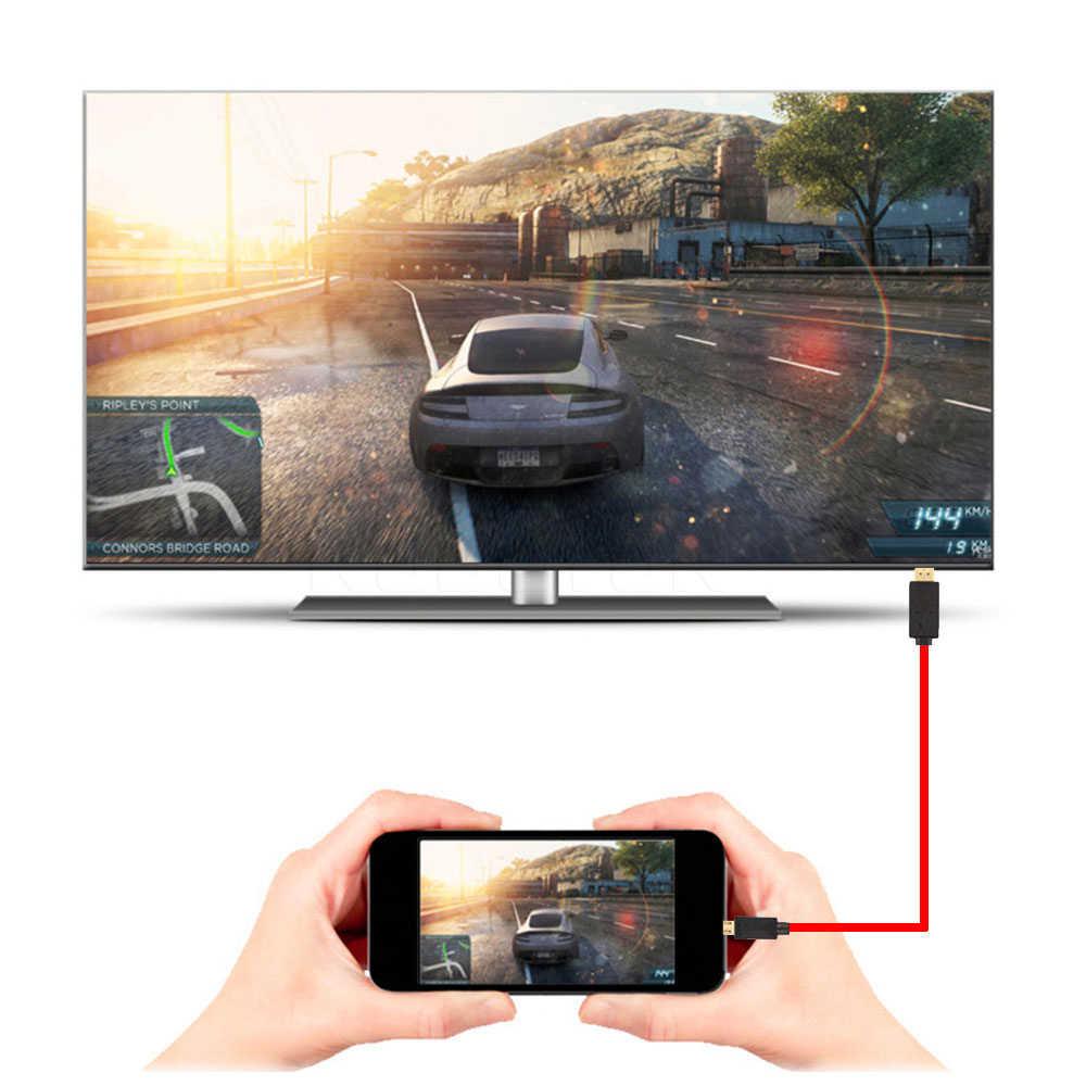 Kebidu Micro USB a HDMI 11Pin de Audio HD Cable de adaptador de cargador de energía para Samsung Galaxy I9300 S4 I9500 S5 I9600 para MHL 2m