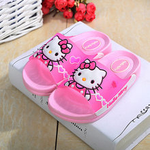 2019 Boys Girls Shoes Summer Slippers for Children Boy Mickey Spiderman Hellokitty Home Non-slip Sandals Girls Baby Shoes(China)