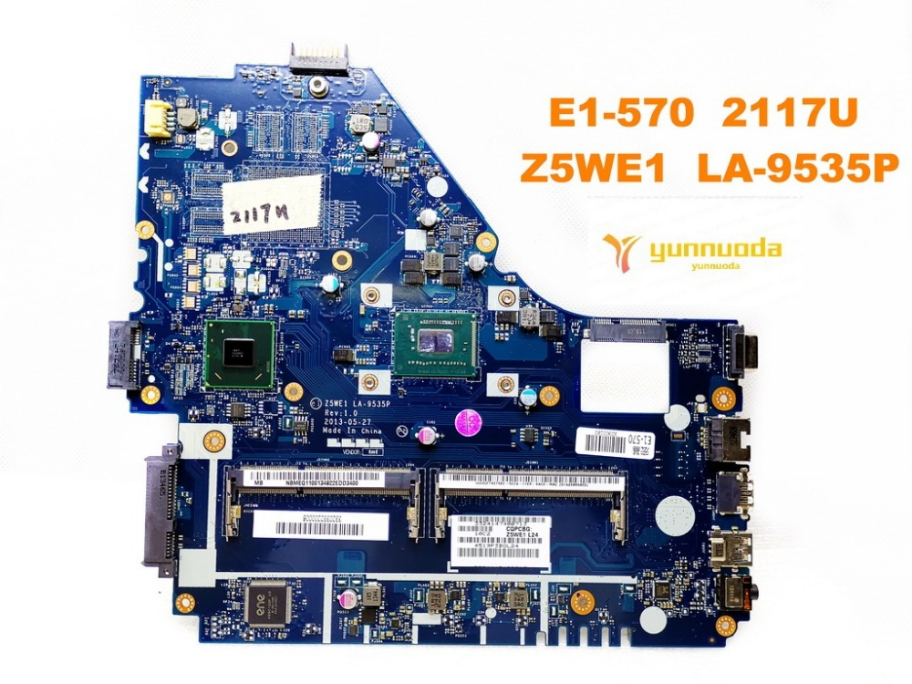 Original for ACER E1-570 laptop <font><b>motherboard</b></font> E1-570 2117U Z5WE1 <font><b>LA</b></font>-<font><b>9535P</b></font> tested good free shipping image