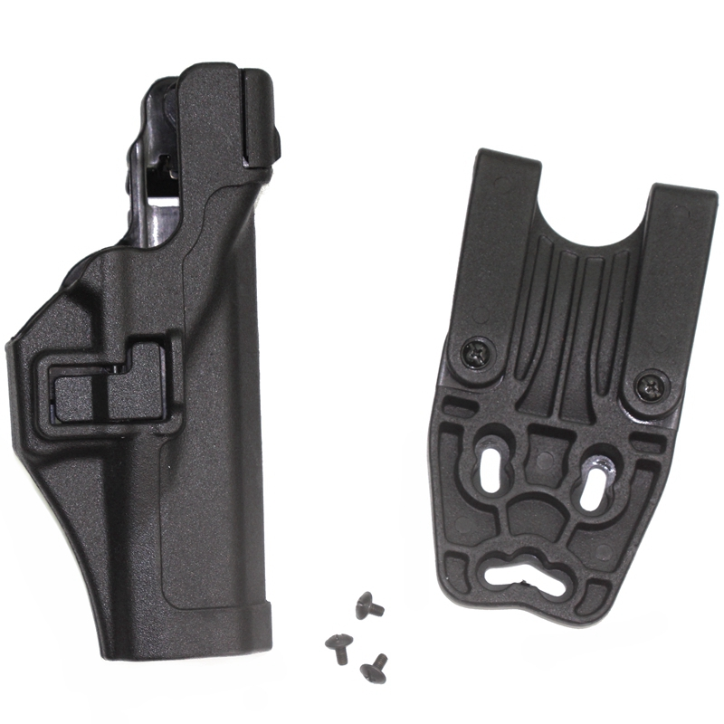 Army Military Equipment Airsoft Paintball Pistol Gun Holster Combat Tactical Black hawk Level 3 Holster for GL 17 19 22 31 32