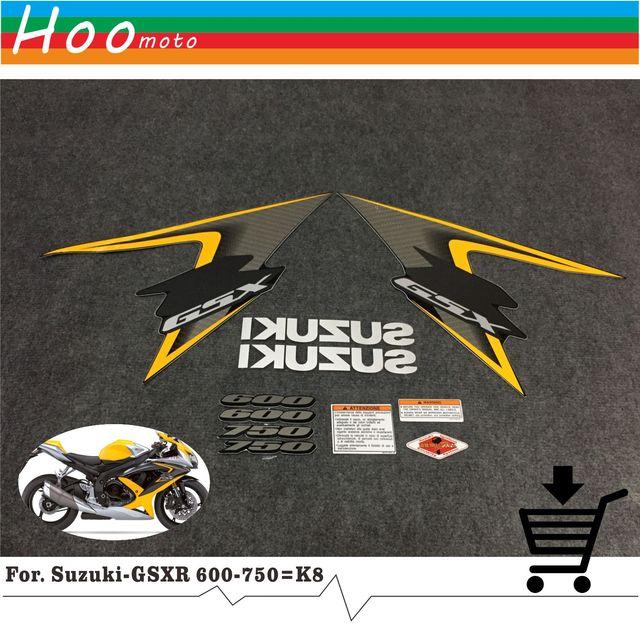 Gsxr gsx r gsx r 600 750 k8 08 years high quality decals sticker motorcycle