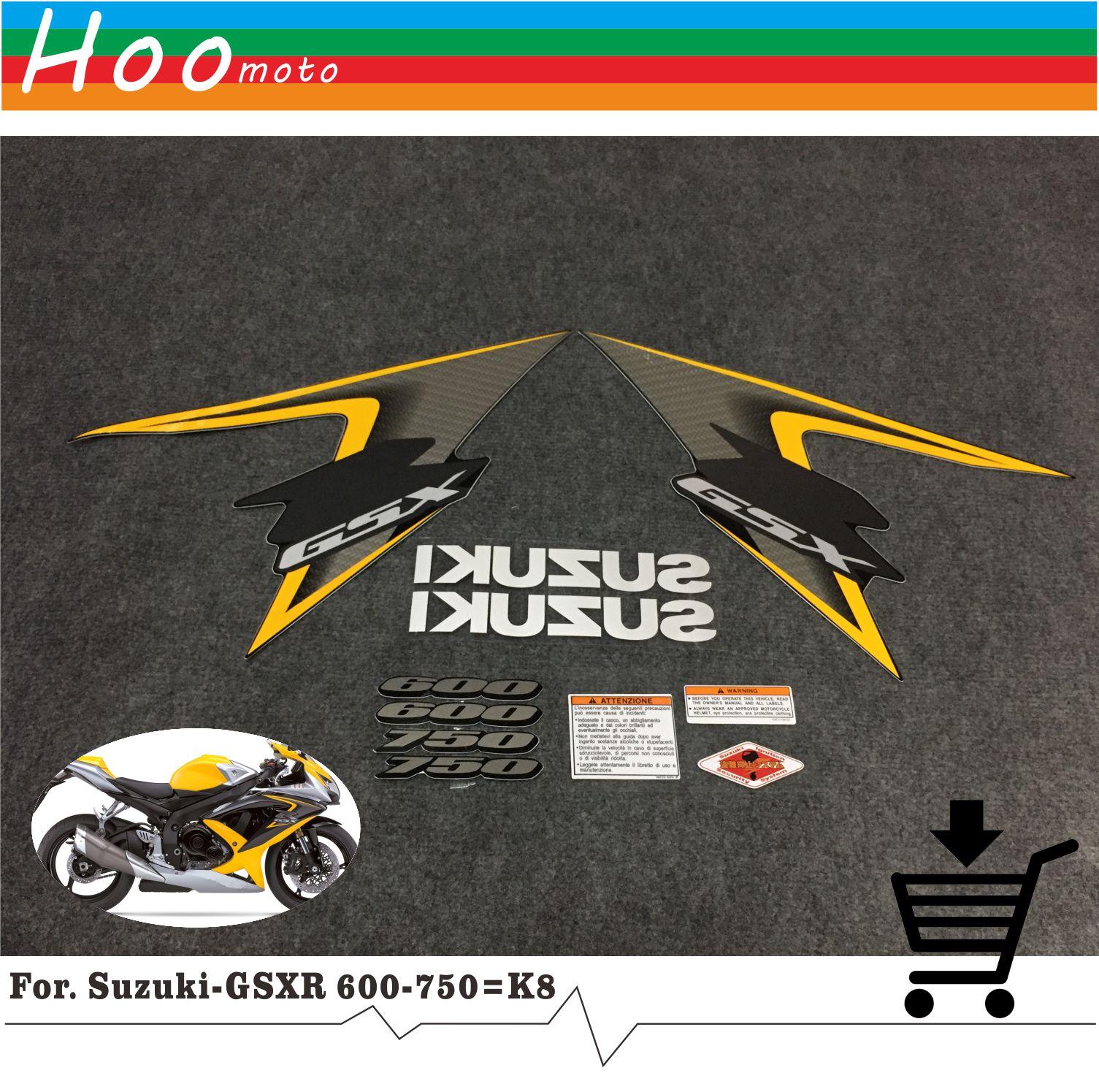 GSXR GSX-R GSX R 600 750 K8 08 лет высокое качество наклейки Стикеры мотоциклетные автомобиль-Стайлинг Стикеры s для Suzuki наклейки Стикеры MOTO