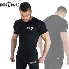 2017 summer New mens gyms T shirt Crossfit Fitness Bodybuilding Shirts Printed Fashion Male Short cotton clothing Brand Tee Tops