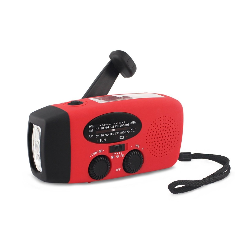 3 in 1 AM/FM Solar Radio Emergency Solar Hand Crank Powerful 3 LED USB <font><b>charger</b></font> <font><b>Flashlight</b></font> Electric Torch Dynamo Bright Lighting