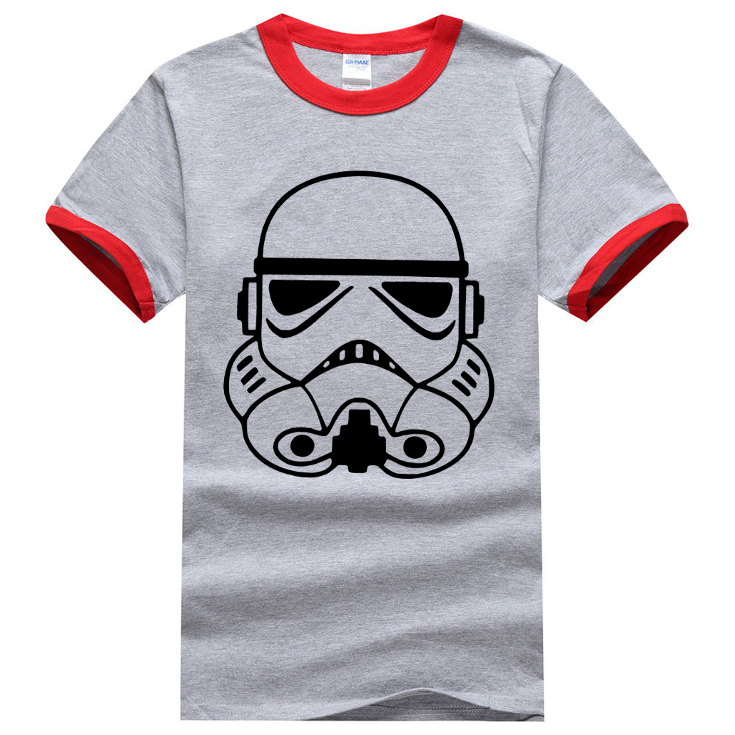 Star Wars Yoda/Darth Vader Men T Shirt 2017 Summer Men Ringer T-Shirt 100% Cotton Fashion Brand-Clothing Casual Hip Hop Men Tees