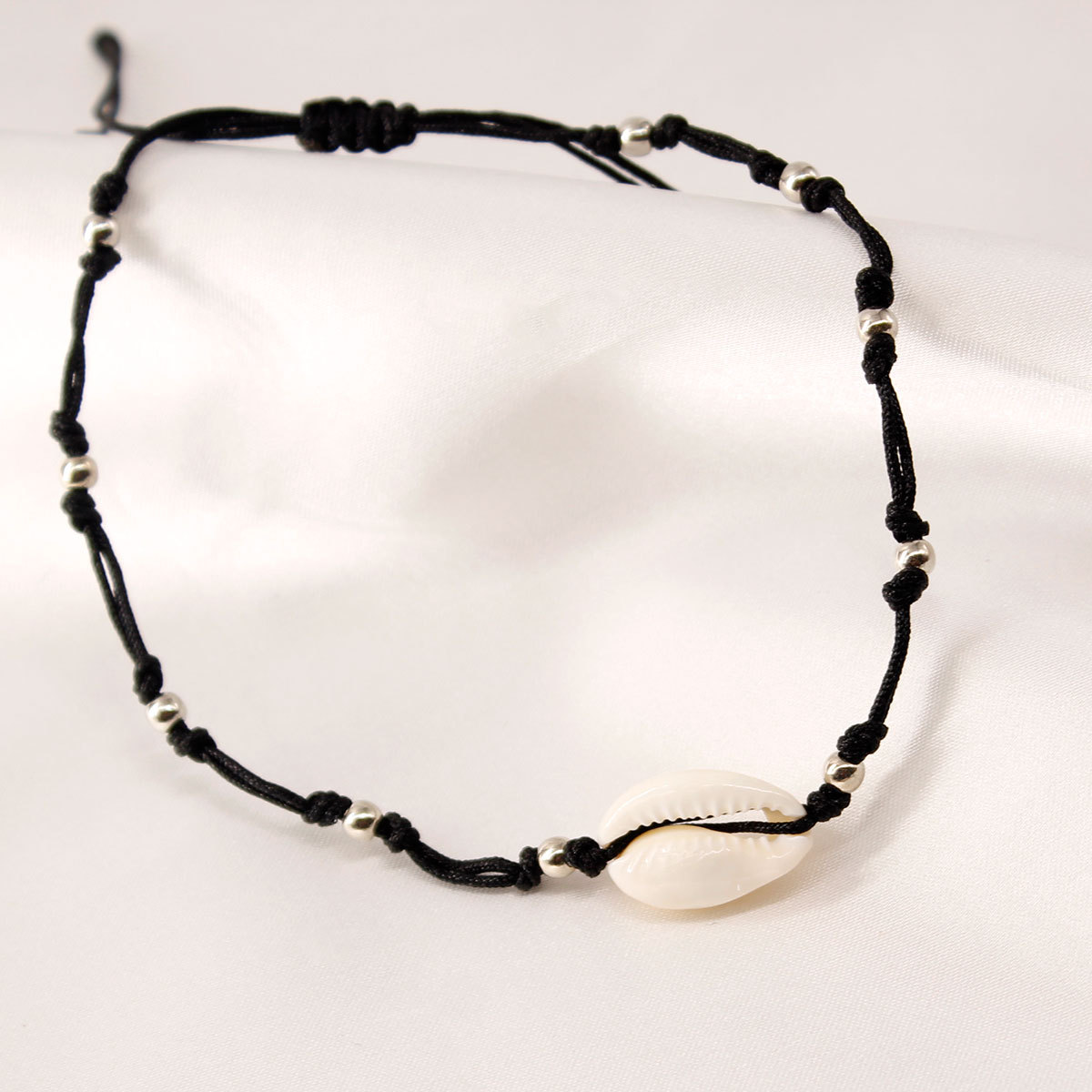 New Wax Wire Handmade Beaded Shell Foot Chain Ankle Bracelets Female Personality Beach Foot Anklets Jewelry in Anklets from Jewelry Accessories