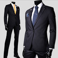 Men's casual suits regular long sleeve cotton male slim fit suits high quality