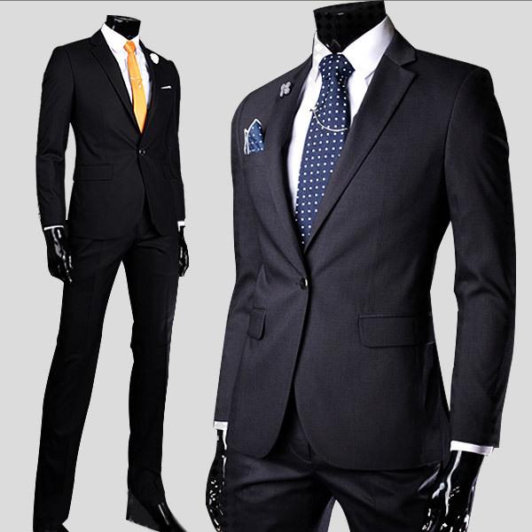 Ternos ocasionais dos homens regulares algodão de manga comprida masculina slim fit ternos de alta qualidade