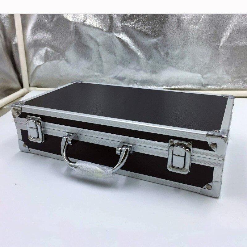 300*170*80mm Portable Storage Suitcase Travel Luggage Organizer Case Safety Instrument Equipment Case With Pre-cut Cotton