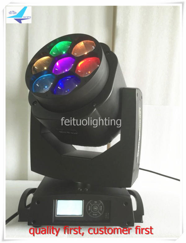 free shipping 4Xlot ZOOM Bee Eye Effect 7x15w RGBW 4in1 Moving Head Light Beam Mini Wash Sound Active Lumiere Show Party Lights a 8x 2016 best selling products newest bee eye 4 in 1 stage rgbw led light par with zoom beam effect