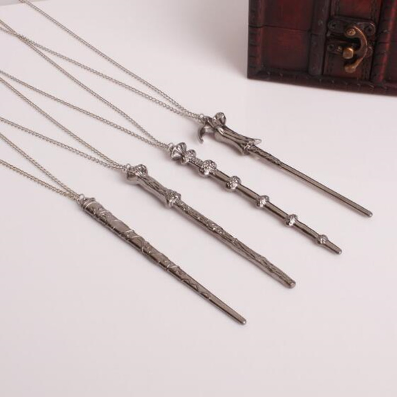 Vintage Necklace Harry Dumbledore Voldemort Hermione Ron Wand Potter Pendant Necklace El ...