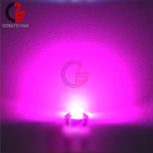 100 шт. 5 мм Диодная соломенная шляпа белый красный зеленый синий желтый фиолетовый Smd Smt Led прозрачная супер яркая широкоугольная лампа 20000mcd лампа - Испускаемый цвет: Purple