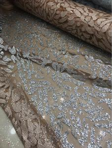 Image 2 - Nigerian French Fabric High Quality JIANXI.C 52205 Best Selling African Lace Fabric Glued glitter sequins Tulle Lace Fabric