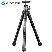 GIZOMOS GDP-21A5 Lightweight Aluminum Mini Portable Tabletop Tripod For DSLR Smartphone Mirrorless Camera