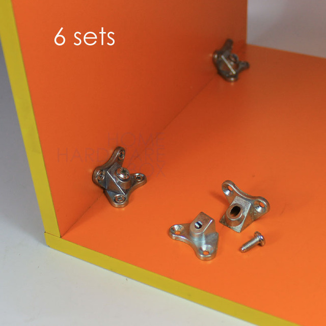 Knockdown Furniture Corner Joint Connector Bracket Fast Assemble Fitting 6  Set