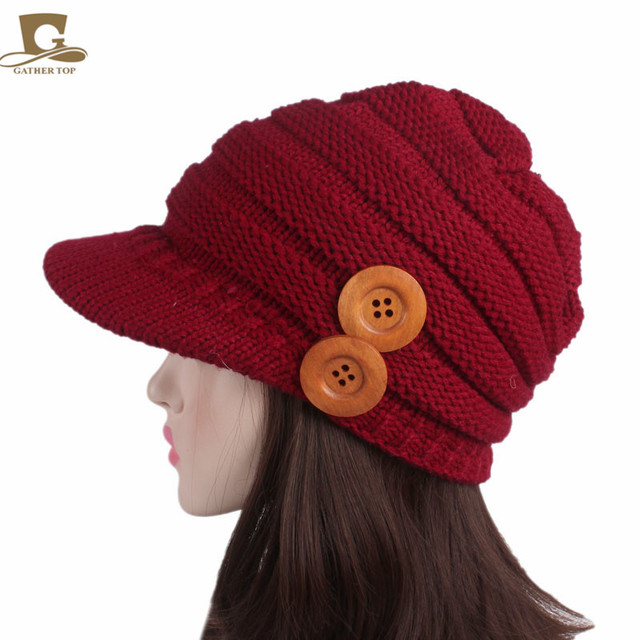 b0e7c9eae US $4.15 |Women's Cable Knit Visor Beanie Hat Beret with Flower Accent  Knitted Earflap Cap-in Skullies & Beanies from Apparel Accessories on ...