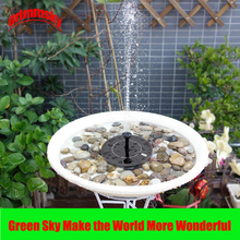 Max. 180L/H Pool Pond Outdoor Floating Solar Panel Home Garden Decoration Fountain Pumps