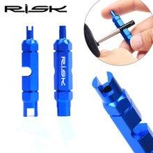 New RISK  Mtb/ Road Bike Valve Cap Repair tool Al 7075CNC Mtb American Gas Nozzle Key Accessory