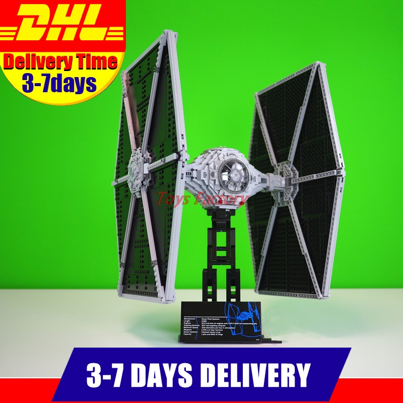2018 New LEPIN 05036 1685Pcs Star Series Wars TIE Fighter Model Building Kits Blocks Bricks Compatible Children Toys Gift 75095 lepin 05036 1685pcs star series wars tie building fighter educational blocks bricks diy toys for children gifts compatible 75095