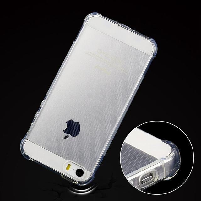 6 6 S 7 силиконовый чехол для iPhone 5S 5 s Прозрачный ударопрочный прозрачный кристалл резиновый Мягкие TPU телефон сумка для iphone 5S