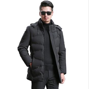 Fashion Slim New Winter Men's Solid Color Warm New 2020 Coats V0418-009